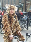 there was even a tiger on a bike