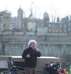 then time for a break and some poetry by the Tower of London