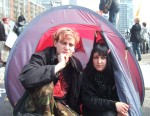 two activists, Marcus & Kelly, who'd been at the Climate Camp the day before (see previous album).