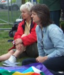 Ewa & Carolyn from East Lancs CND listening carefully